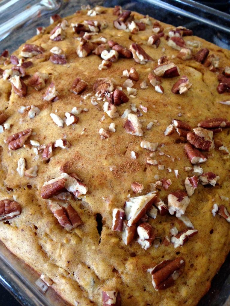 Spiced Pumpkin Pecan Oatmeal Bread